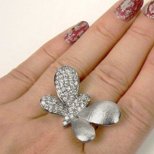 BUTTERFLY Sterling SILVER Ring sz 8.5